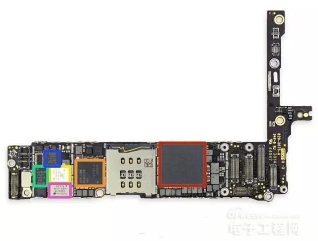 苹果7手机电路板上测试点