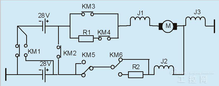 某型飞机发动机的起动程序控制原理如图1所示