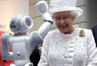 盘点各国政要与机器人的历史情缘(图集)
