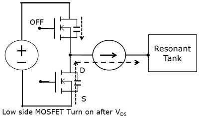 谐振电路实现开关零电压切换