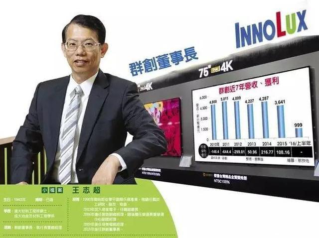 王志超:大尺寸应用不担心被OLED取代