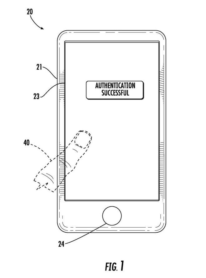 苹果新专利:Touch ID传感器将整合在屏幕当中