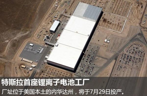 特斯拉锂电池超级工厂 产能冠绝全球