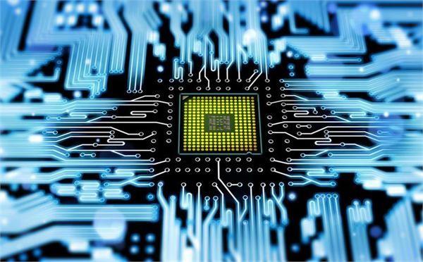 电子芯片矢量素材