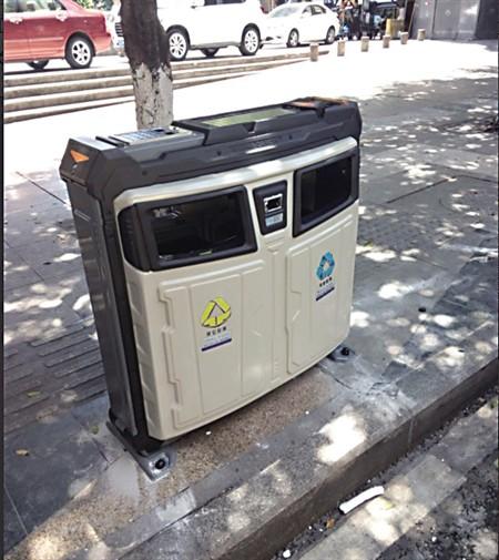 太阳能智能垃圾箱是江北区智慧城管建设的配套