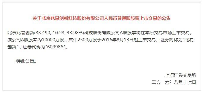 """兆易创新上市 再创中国IC设计""""芯""""高度"""