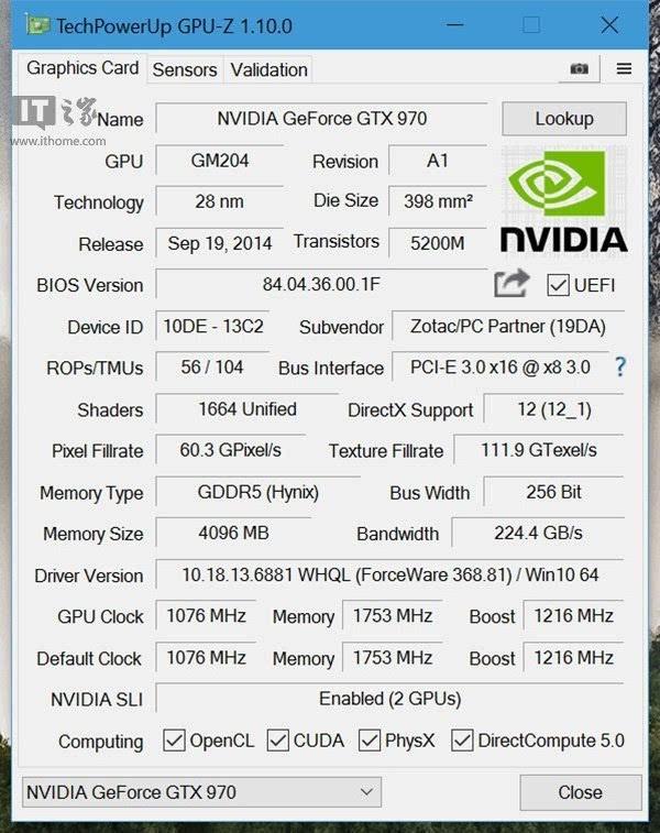 GPU-Z 1.10.0正式版发布:增加对RX470、RX 460、Titan X支持