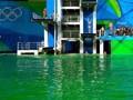 """里约奥运会泳池变""""碧池""""之谜:是水污染还是""""神秘力量""""?"""