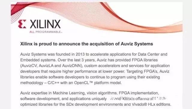 Xilinx巨资收购Auviz Systems 将与Altera化敌为友?