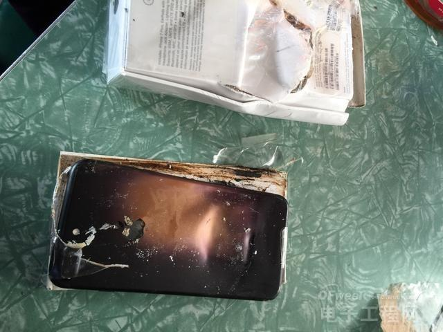 Note 7不再孤单 外国网友的iPhone 7也爆炸了