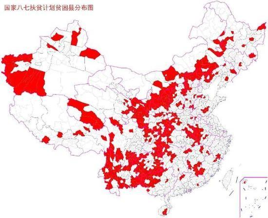 贫困县分布图