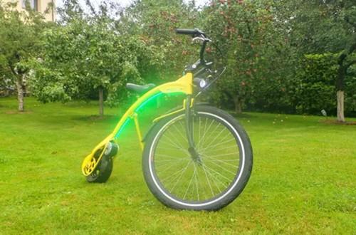巨细轮+LED灯 这款电动自行车酷到没伴侣!