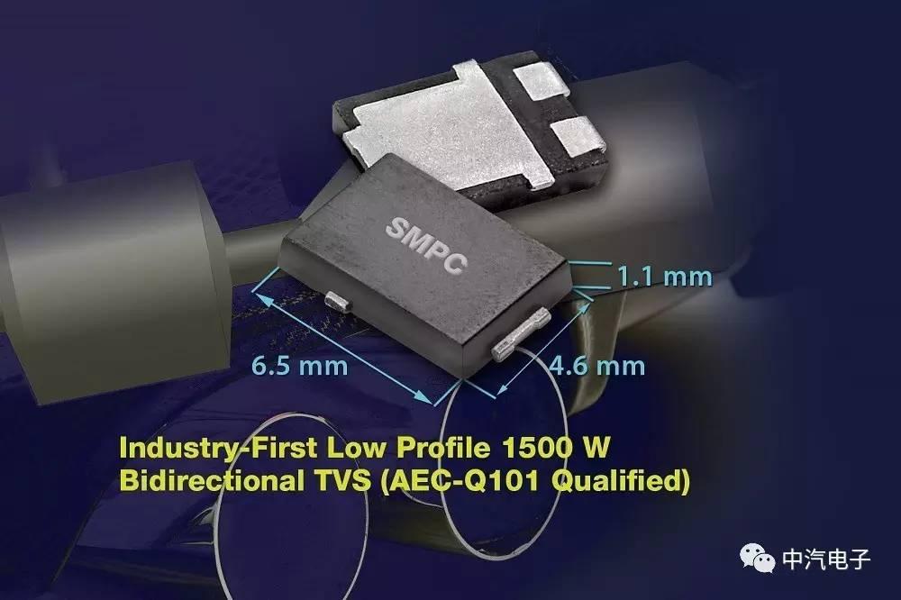 Vishay超薄高功率密度瞬态电压抑制器
