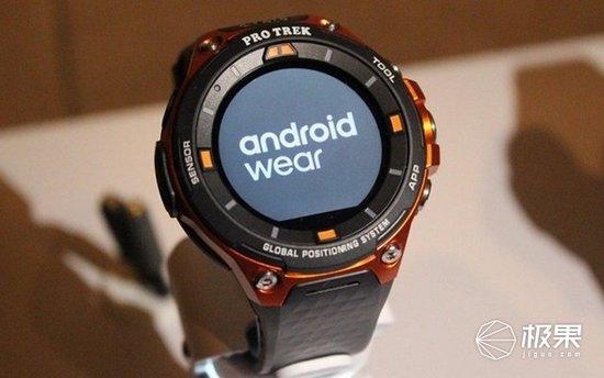 卡西欧军工户外智能手表,搭载安卓Wear 2.0
