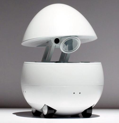 """松下推出""""鸡蛋型""""机器人 可与人轻松交流"""