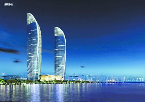 世茂海峡大厦周围夜景改造效果图