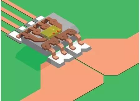 霍尔板对齐的acs724电流传感器ic.