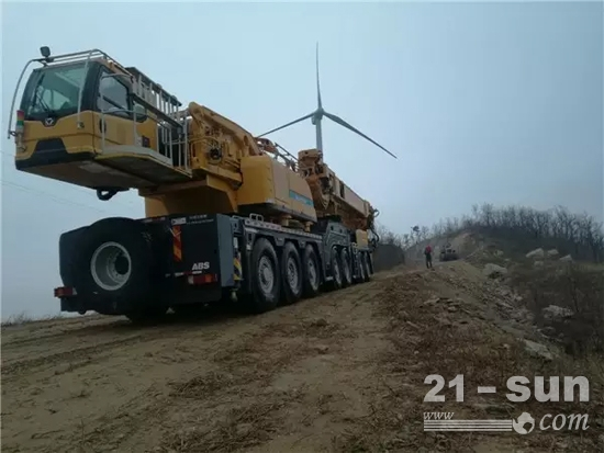 G一代力作——徐工XCA550引领风电吊装新风标