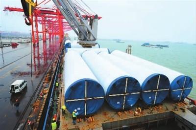 亚洲最高风电塔筒出口泰国