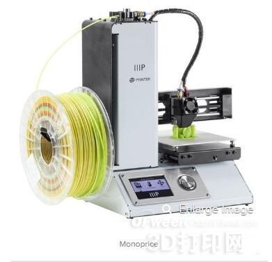 最低仅需165美金的Monoprice Select迷你3D打印机
