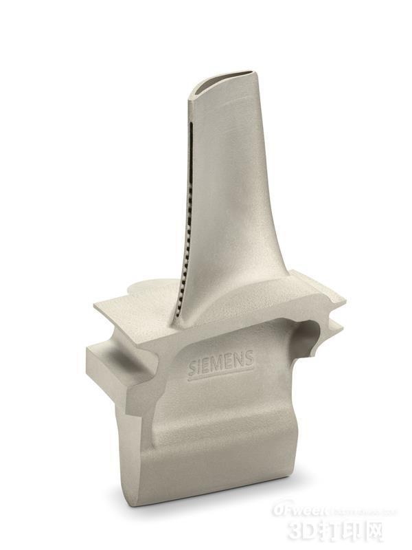 西门子3D打印金属燃气轮机叶片成功通过1250℃高转速测试
