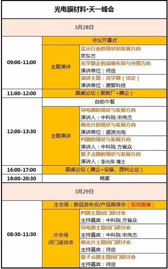 2017光电膜材料天一峰会