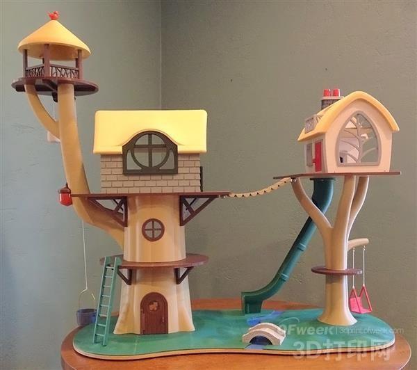一对祖父母为3岁孙女3D打印了史上最可爱的树屋