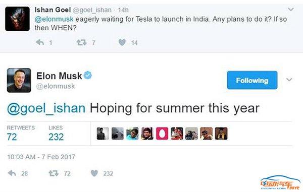 特斯拉欲开辟印度市场 拖后腿的竟然是它