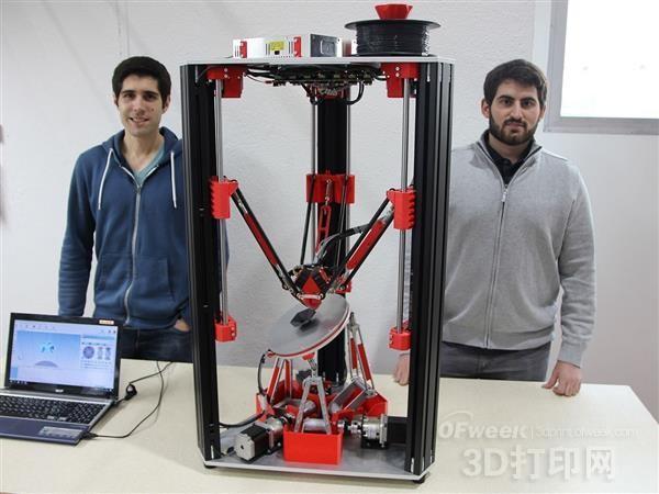 苏黎世大学学生开发出打印悬垂对象的六轴3D打印机
