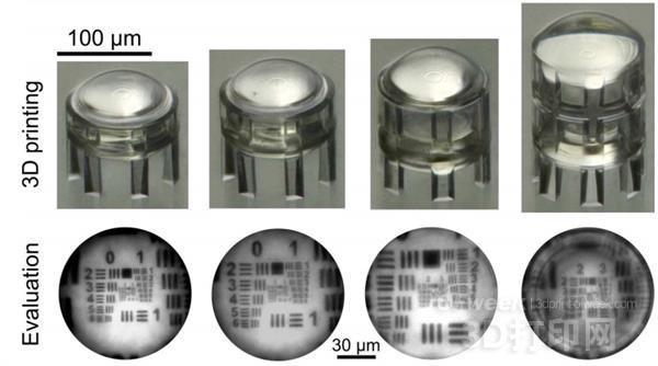 科学家研发出3D打印镜头以用于微型摄像机监视系统