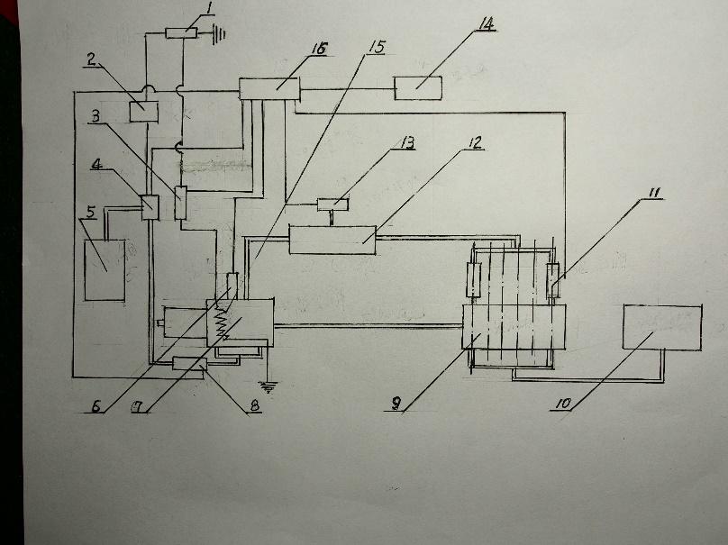 甲醇喷射器 9.发动机 10.燃油箱 11.电磁阀 12.氢气,一氧化碳储罐 13.图片