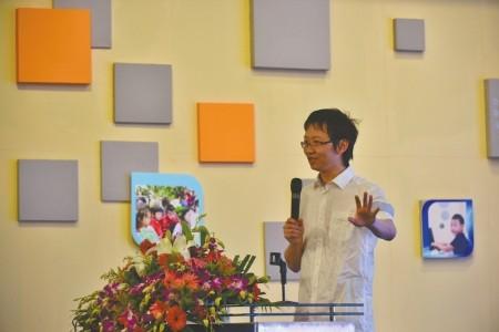 电子科大教授周涛在论坛发言.吴小川摄-大数据为个性化教育插上翅膀
