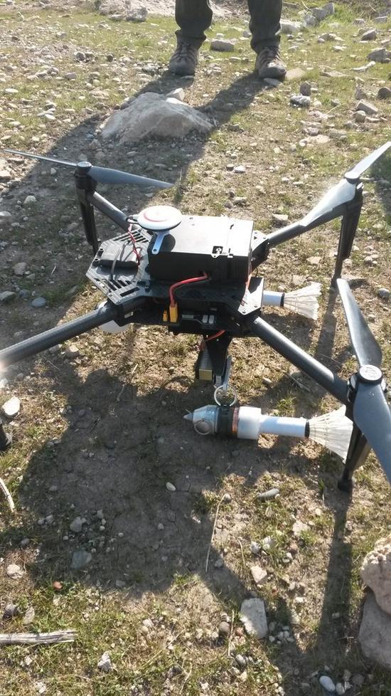 ISIS改造了大疆无人机用于发射榴弹
