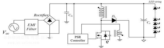 采用buck-boost拓扑的    w – 100 w led 电源系统