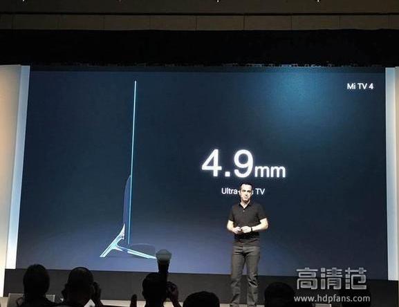 9毫米的超薄机身,屏幕选用无边框规划,迄今为止最薄的小米电视.
