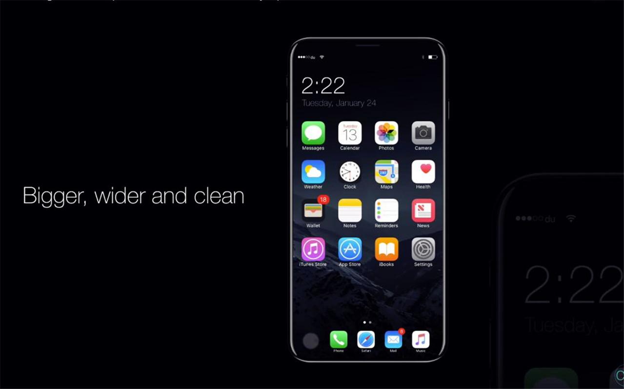 iPhone8:全面屏+玻璃屏幕解锁,更大更宽更清晰
