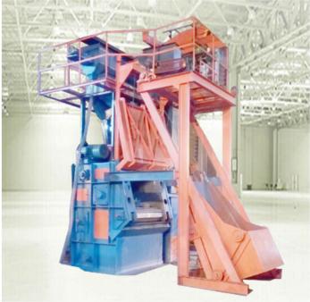 涂装设备工厂店:巨龙金属履带式抛丸机每年为企业节省数十万元