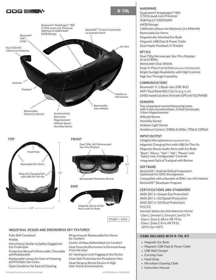ODG推出全新AR眼镜,专为工业劳动力而生