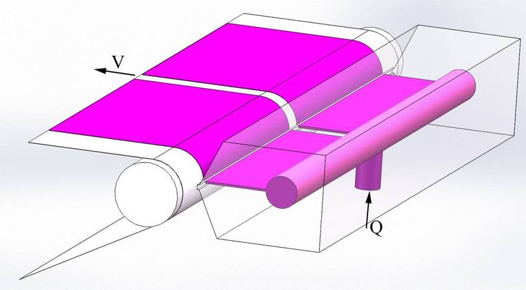 锂离子电池极片狭缝式挤压涂布流场特性解析