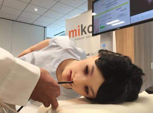 日本医院研发出医疗模拟机器人