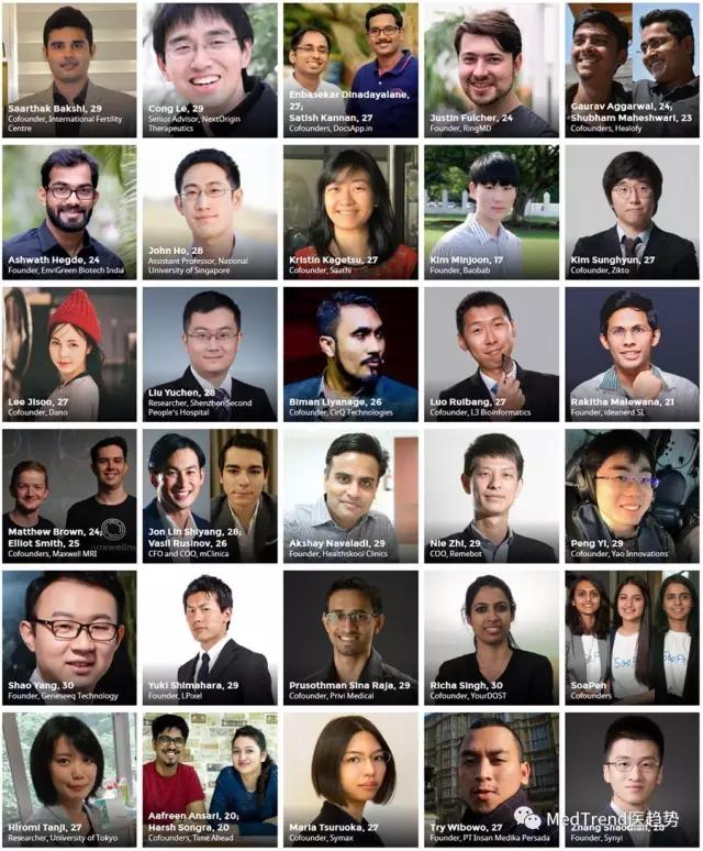 7名中国青年入选2017福布斯杰出人物医疗榜单