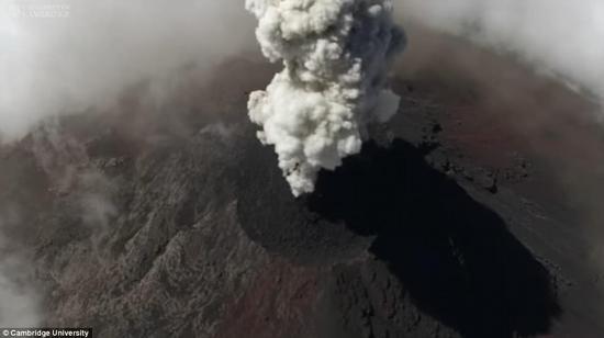 无人机新用途!英国科学家用其研究活跃火山