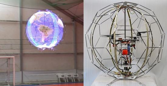 NTT Docomo推出世界上第一款球形照明无人机