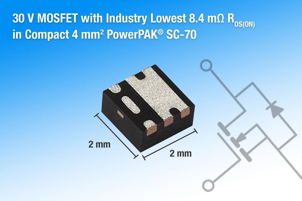 Vishay新款30V MOSFET具有高功率密度和高效率等特性 适用于移动设备和消费电子