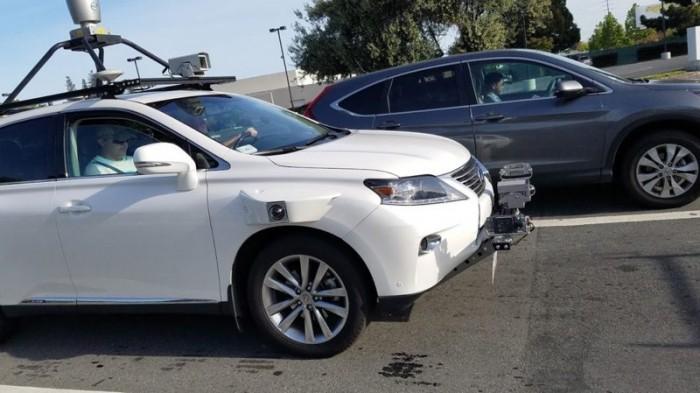苹果自动驾驶系统路测照曝光 车身全是传感器