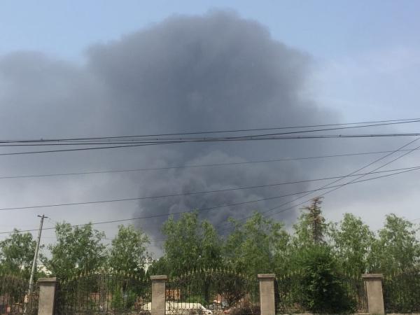 北京蟹岛度假村停车场起火