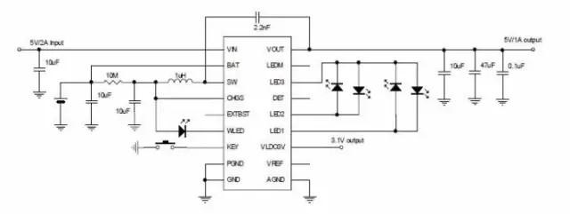 EC206B是富满主打的四合一移动电源方案,在芯片集成度上有很大的先天优势。在芯片高集成度的同时,性能相对稳定。2A 同步开关充电器,1A 同步升压转换器,充电效率高达96%,自动检测负载、自动切换待机模式与工作模式;过流、过压、短路、过温保护等基本保护功能全覆盖,待机电流小于50uA,功耗更少;集成度高,极低的BOM 成本,成本更低。 5、合励达H6D38T