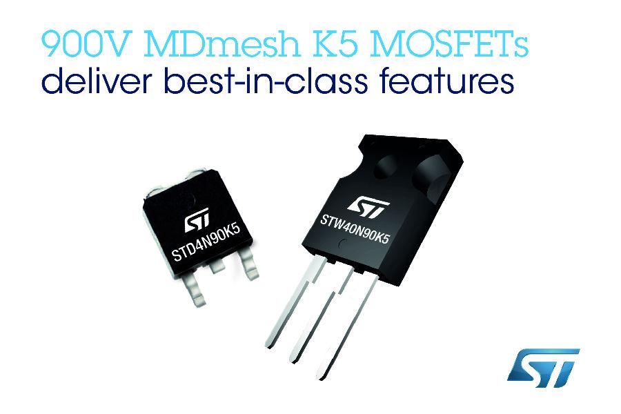 意法半导体推出同级领先的900V MOSFET管