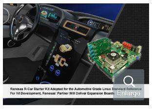 R-Car入门套件可加速下一代联网汽车的IVI开发