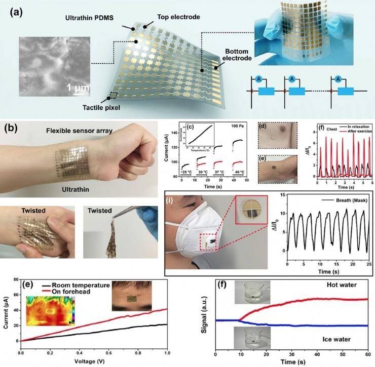 中科院宣布电子皮肤新进展:可直接贴附人体表面